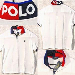 Polo Performance Colorblock Spellout Collar Shirt